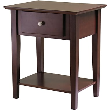 Winsome 25in. x 22in. x 16in. Wood Shaker Night Stand, Brown