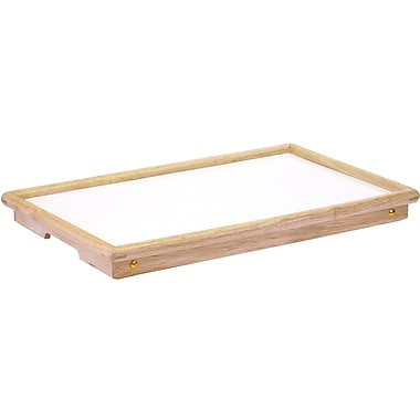 Winsome 9.22in. x 24.66in. x 13.94in. Wood/Melamine Bed Tray, Natural With White Top