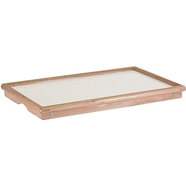 Winsome 8.94in. x 24.49in. x 13.94in. Wood/Melamine Bed Tray, Natural With White Top