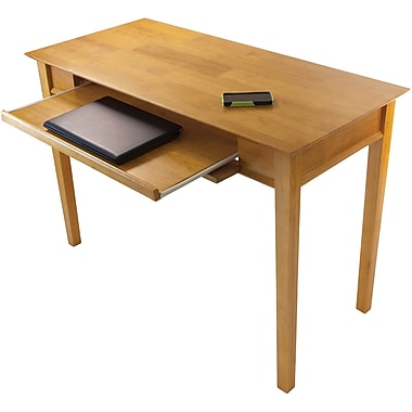 Winsome Beech Wood Studio Computer Desk, Honey