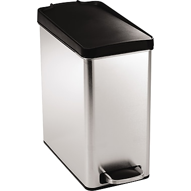 simplehuman Profile Step Can, Plastic, 2.6 gal.
