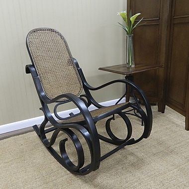 ... Cottage Victoria Bentwood Rocking Chair, Antique Black  Staples