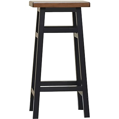 Carolina Cottage Colby Stave Wood Bar Stool, Antique Black