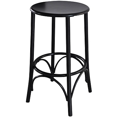 Carolina Cottage Metal Cafe Stool, Black