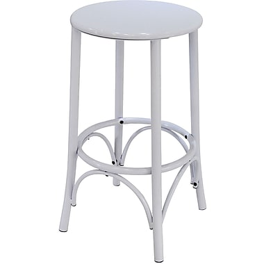 Carolina Cottage Metal Cafe Stool, White
