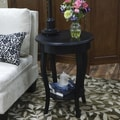 Carolina Cottage 25in. x 18in. x 18in. Wood Radnor Side Table, Antique Black