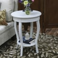 Carolina Cottage 25in. x 18in. x 18in. Wood Radnor Side Table, Antique Ivory