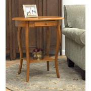 "Carolina Cottage 27"" x 24"" x 18"" Wood Martha Ova End Table, Oak"