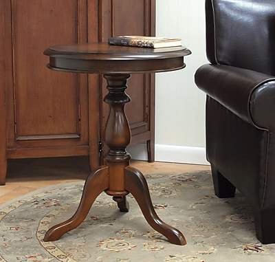 """""Carolina Cottage 25 1/4"""""""" x 19 1/2"""""""" x 19 1/2"""""""" Wood Gilda Side Table, Chestnut"""""" 49854"