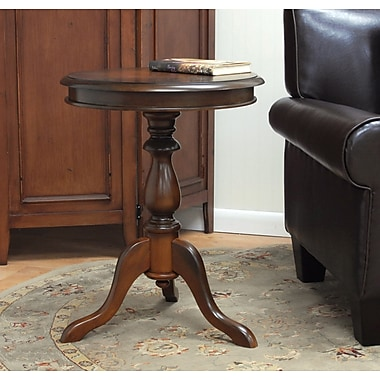 Carolina Cottage 25 1/4in. x 19 1/2in. x 19 1/2in. Wood Gilda Side Table, Chestnut