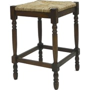 Carolina Cottage Hawthorne Hardwood Rush Counter Stool, Chestnut