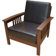 Carolina Cottage Montego Wood Prairie Chair, Black (323DMC)