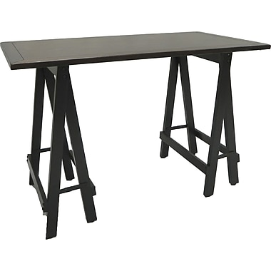 Carolina Cottage Workman Sawhorse Writing Desk, Antique Black (4020-ABNC)