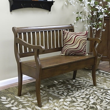 Carolina Cottage American Oak Veranda Storage Bench