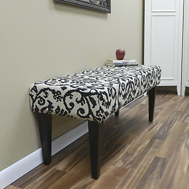 Carolina Cottage Lascada Magic Solid Wood Romance Bench With Antique Black Shaker Legs