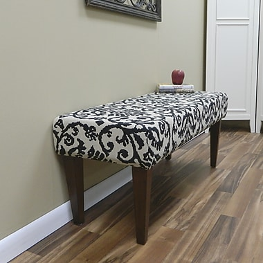 Carolina Cottage Lascada Magic Solid Wood Romance Bench With Chestnut Shaker Legs