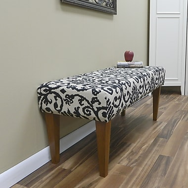 Carolina Cottage Lascada Magic Solid Wood Romance Bench With Walnut Shaker Legs
