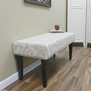 Carolina Cottage Lascada Sand Solid Wood Romance Bench With Antique Black Shaker Legs
