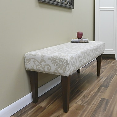 Carolina Cottage Lascada Sand Solid Wood Romance Bench With Chestnut Shaker Legs