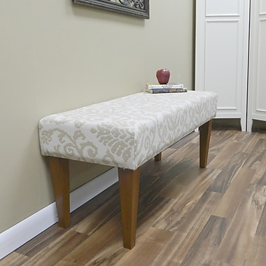 Carolina Cottage Lascada Sand Solid Wood Romance Bench With Walnut Shaker Legs