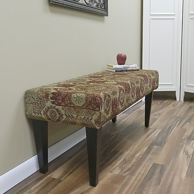 Carolina Cottage Rivers Edge Solid Wood Romance Bench With Antique Black Shaker Legs