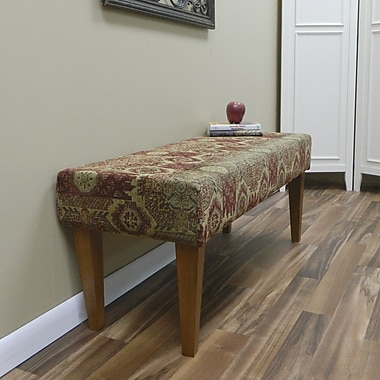 Carolina Cottage Rivers Edge Solid Wood Romance Bench With Walnut Shaker Legs