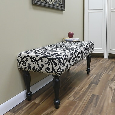 Carolina Cottage Lascada Magic Solid Wood Romance Bench With Antique Black Turned Legs