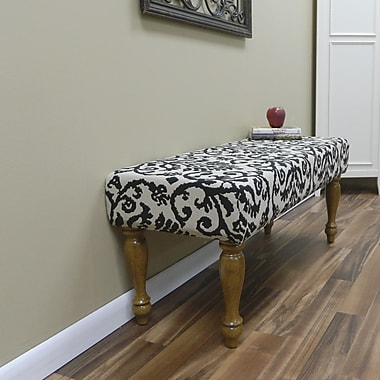 Carolina Cottage Lascada Magic Solid Wood Romance Bench With English Pine Turned Legs