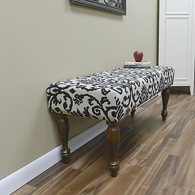 Carolina Cottage Lascada Magic Solid Wood Romance Bench With Chestnut Turned Legs