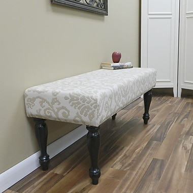 Carolina Cottage Lascada Sand Solid Wood Romance Bench With Antique Black Turned Legs