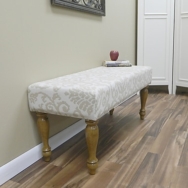 Carolina Cottage Lascada Sand Solid Wood Romance Bench With English Pine Turned Legs