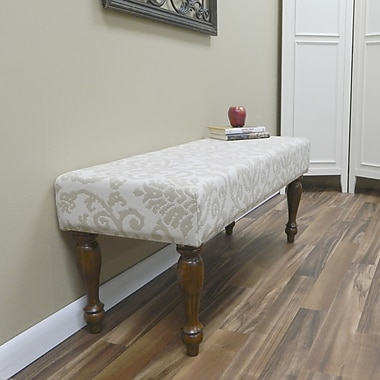 Carolina Cottage Lascada Sand Solid Wood Romance Bench With Chestnut Turned Legs
