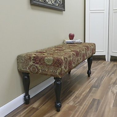 Carolina Cottage Rivers Edge Solid Wood Romance Bench With Antique Black Turned Legs