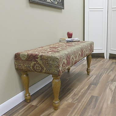 Carolina Cottage Rivers Edge Solid Wood Romance Bench With English Pine Turned Legs
