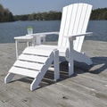 Carolina Cottage Cape Cod High-Density Plastic Adirondack Chair, Alpine White