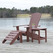 Carolina Cottage Cape Cod High-Density Plastic Adirondack Chair, Espresso