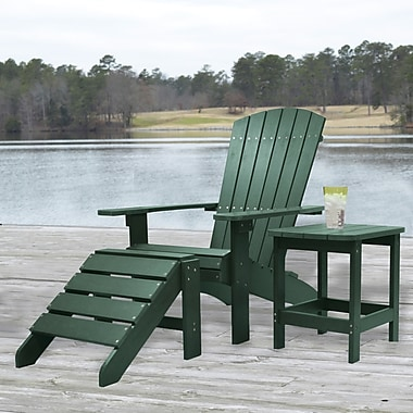 Carolina Cottage Cape Cod High-Density Plastic Adirondack Chair, Hunter Green