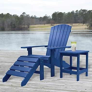 Carolina Cottage Cape Cod High-Density Plastic Adirondack Chair, Pacific Blue