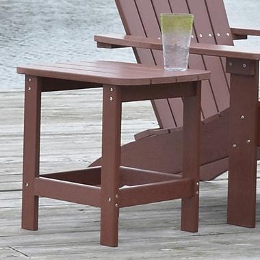 Carolina Cottage 16in. x 18 1/2in. x 19in. Plastic Cape Cod Adirondack Side Table, Espresso