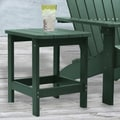 Carolina Cottage 16in. x 18 1/2in. x 19in. Plastic Cape Cod Adirondack Side Table, Hunter Green