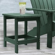 "Carolina Cottage 16"" x 18 1/2"" x 19"" Plastic Cape Cod Adirondack Side Table, Hunter Green"