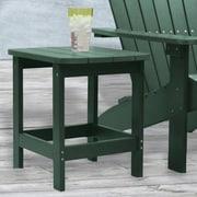 Carolina Cottage 16 x 18 1/2 x 19 Plastic Cape Cod Adirondack Side Table, Hunter Green