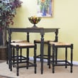 Carolina Cottage 36in. x 36in. x 36in. Wood Berkshire Bar Table, Antique Black