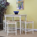 Carolina Cottage 36in. x 36in. x 36in. Wood Berkshire Bar Table, Antique White