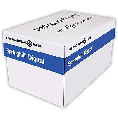 Springhill® Opaque 65 lbs. Smooth Cover, 8 1/2in. x 11in., Blue, 2500/Case