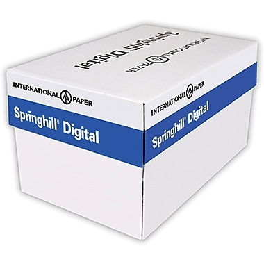 IP Springhill® Opaque 8 1/2in. x 11in. 60 lbs. Colored Copy Paper, Canary, 5000/Case