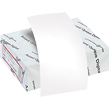 Accent® Opaque 100 lbs. Digital Smooth Cover, 8 1/2in. x 11in., White, 200/Ream