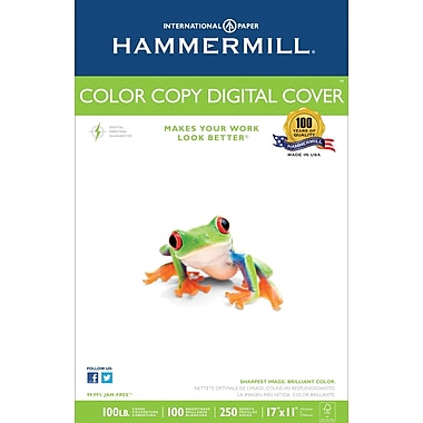 Hammermill® 100 lbs. Color Copy Digital Ultra Smooth Photo Cover, 11in. x 17in., White, 250/Ream