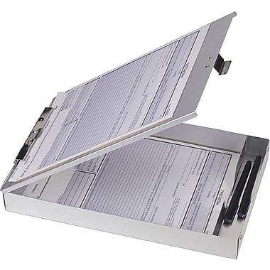 Officemate Aluminum Storage for Forms Holder, Letter/A4, Silver, 8 1/2in. x 12in.