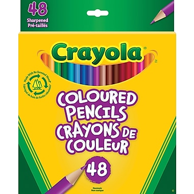Crayola® Coloured Pencils, 48/Pack